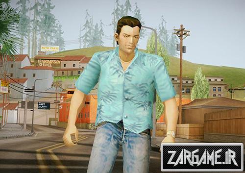 دانلود اسکین شخصیت GTA VC برای بازی (GTA 5 (San Andreas