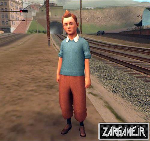 دانلود اسکین شخصیت تن تن برای بازی (GTA 5 (San Andreas