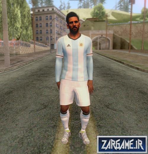 دانلود اسکین لیونل مسی برای بازی (GTA 5 (San Andreas