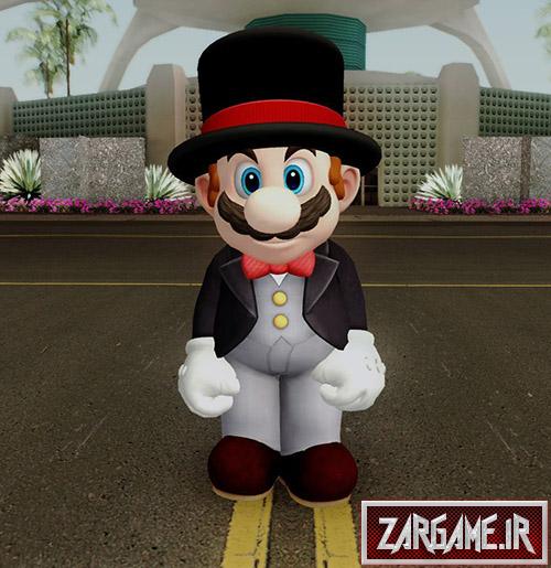 دانلود اسکین Mario Black برای بازی (GTA 5 (San Andreas