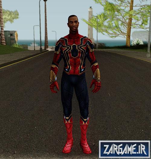 دانلود لباس مرد عنکبوتی برای CJ در بازی (GTA 5 (San Andreas
