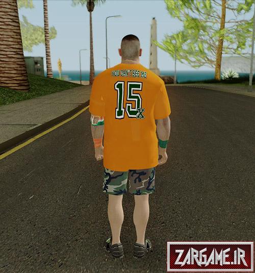 دانلود اسکین جان سینا (کشتی کج کار) برای بازی (GTA 5 (San Andreas
