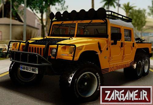 دانلود ماشین Hummer H1 شش چرخ برای بازی (GTA 5 (San Andreas