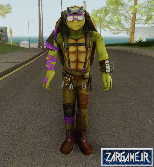 دانلود پک اسکین های لاکپشت های نینجا برای بازی (GTA 5 (San Andreas