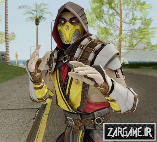 دانلود اسکین Scorpion از بازی Mortal Kombat 11 برای بازی (GTA 5 (San Andreas
