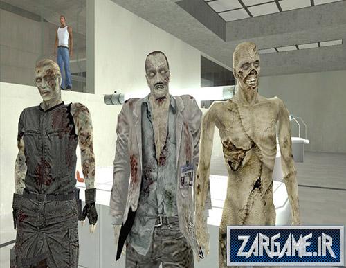 دانلود پک اسکین زامبی ها از بازی Resident Evil Zero برای بازی (GTA 5 (San Andreas