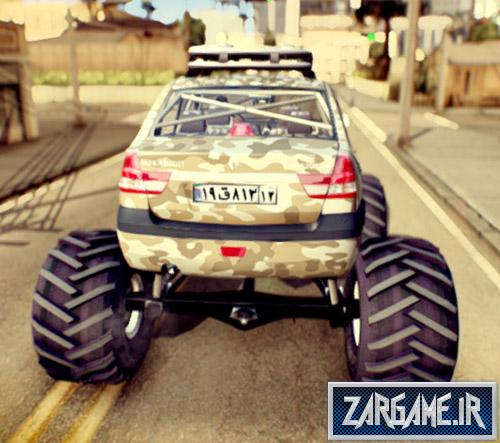 دانلود ماشین تندر90 مانستر با پینت جاب ارتشی برای بازی (GTA 5 (San Andreas