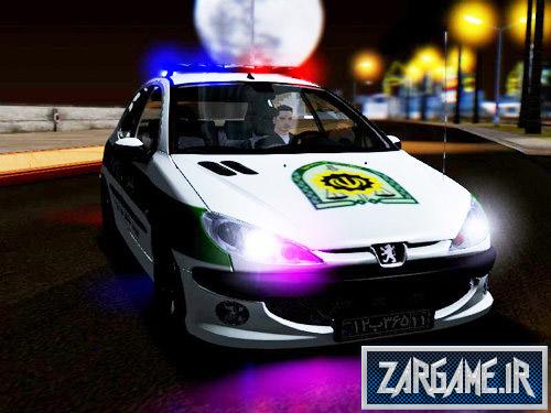 دانلود ماشین پژو 206 پلیس ایرانی برای بازی (GTA 5 (San Andreas