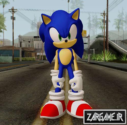 دانلود اسکین شخصیت کارتونی سونیک برای بازی (GTA 5 (San Andreas
