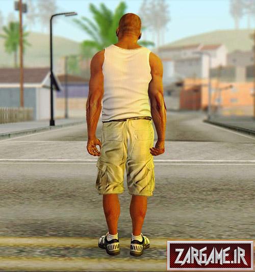دانلود اسکین فرانکلین از بازی GTA V برای بازی (GTA 5 (San Andreas