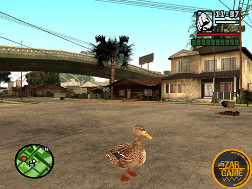 دانلود اسکین اردک برای بازی (GTA 5 (San Andreas