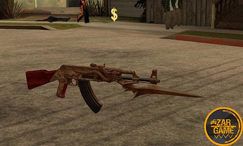 دانلود تفنگ AK47 DRAGON   کلاشینکف اژدها برای بازی (GTA 5 (San Andreas