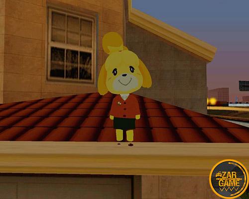 دانلود پک اسکین Isabelle از بازی Animal Crossing برای بازی (GTA 5 (San Andreas