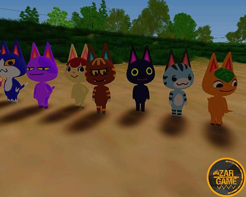 دانلود پک اسکین گربه ها از بازی Animal Crossing برای بازی (GTA 5 (San Andreas