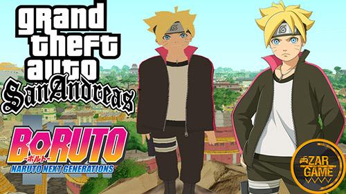 دانلود پک اسکین بوروتو از انیمیشن (نسل بعدی ناروتو) برای بازی (GTA 5 (San Andreas