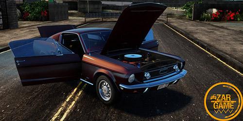دانلود ماشین کلاسیک Ford Mustang GT Fastback 390 1968 برای بازی (GTA 5 (San Andreas