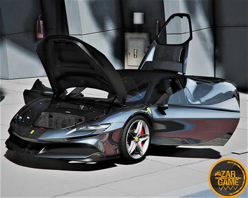 دانلود ماشین 2020 Ferrari SF90 جاده ای برای بازی GTA V