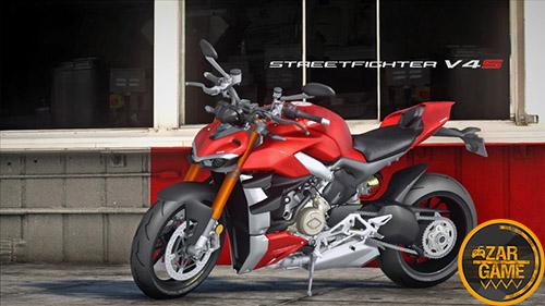 دانلود موتورسیکلت 2020 Ducati Streetfighter V4S برای بازی (GTA 5 (San Andreas