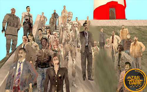 دانلود پک اسکین زامبی از بازی رزیدنت ایول: Outbreak و Chronicles برای بازی (GTA 5 (San Andreas