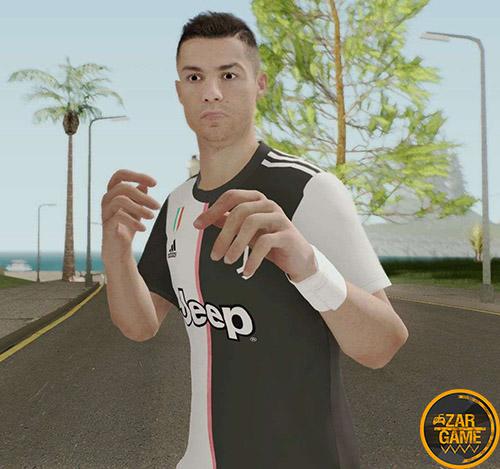 دانلود اسکین کریستیانو رونالدو از بازی PES 2020 برای بازی (GTA 5 (San Andreas