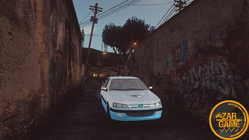 دانلود ماشین پژو پارس استقلالی برای بازی (GTA 5 (San Andreas