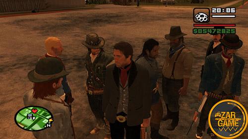 دانلود پک اسکین بازی Red Dead Redemption 2 برای بازی (GTA 5 (San Andreas