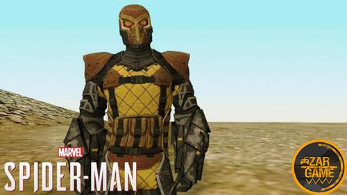 دانلود اسکین شخصیت Shocker از بازی Marvels SpiderMan PS4 برای بازی (GTA 5 (San Andreas