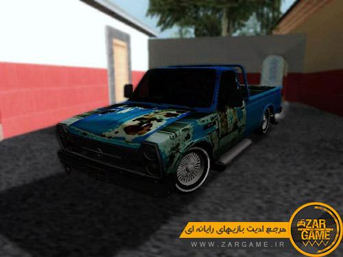 دانلود ماشین نیسان آبی کهنه برای بازی (GTA 5 (San Andreas