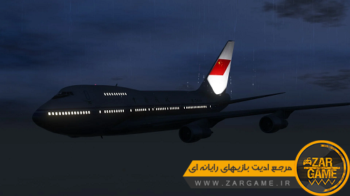دانلود خودروی دانلود هواپیمای مسافربری Boeing 747SP برای بازی GTA V