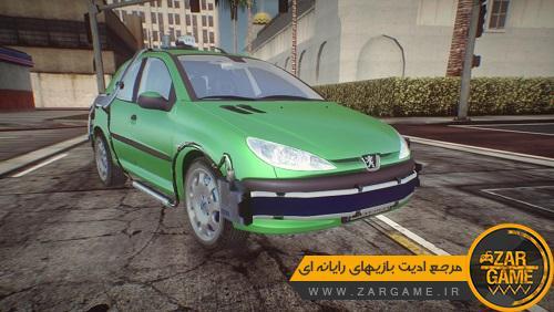 دانلود خودروی پژو 206 به سبک خودروی فیلم BTTF برای بازی GTA 5 (San Andreas)