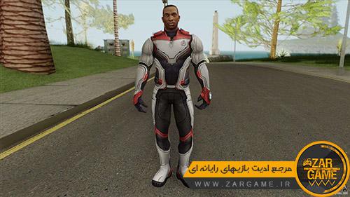 دانلود اسکین کارل جانسون (به سبک فیلم انتقام جویان:پایان بازی) برای بازی GTA San Andreas
