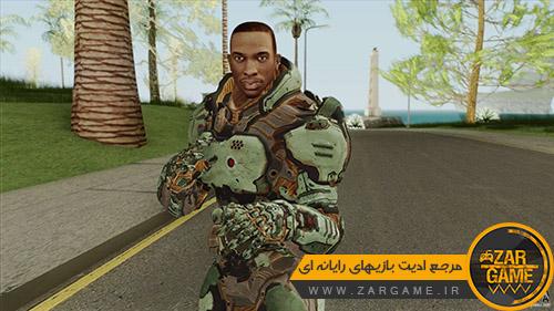 دانلود اسکین کارل جانسون به سبک بازی Doom 3 برای بازی GTA San Andreas