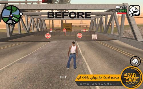 دانلود مود حذف ممنوعیت ورود به سایر شهر ها برای بازی GTA SA اندروید