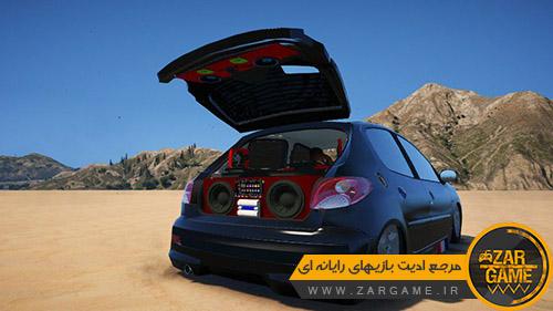 دانلود ماشین پژو 207 برای بازی GTA V